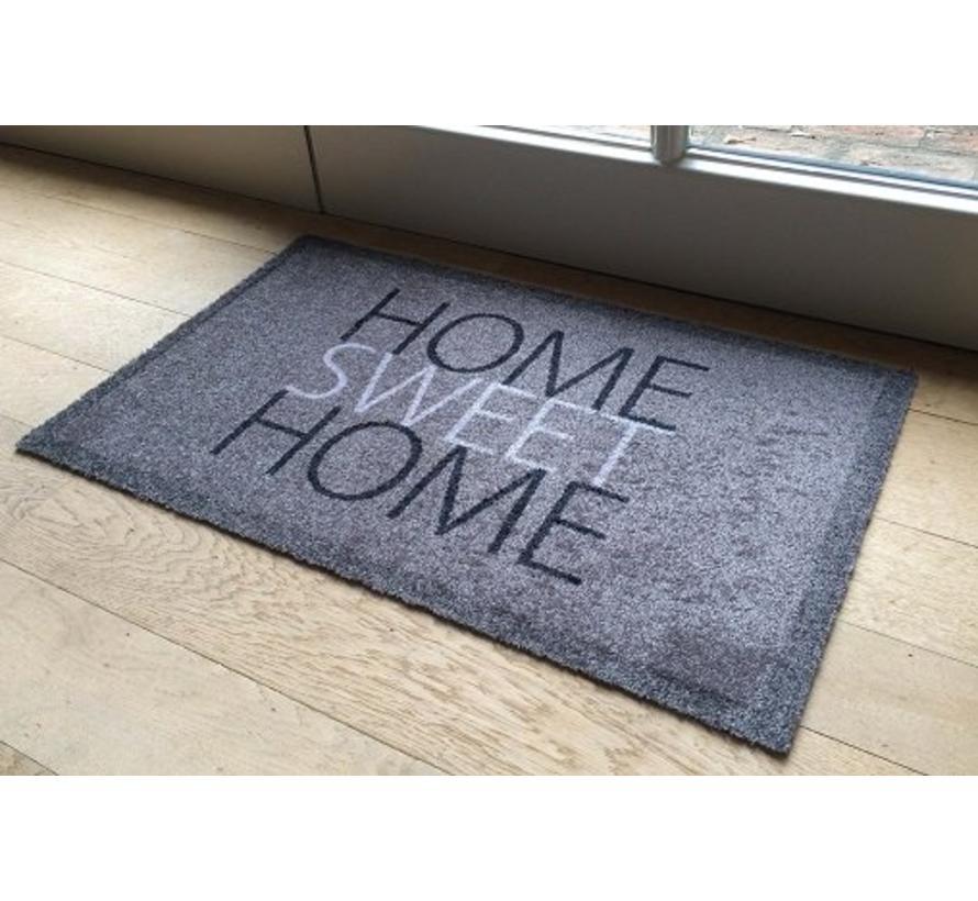 Deurmat grijs Home sweet home