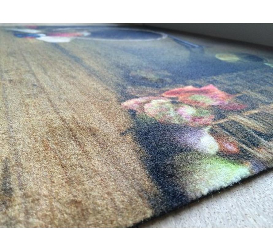 Tapis anti poussière scène rurale
