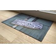 Deurmat foto houten bordje