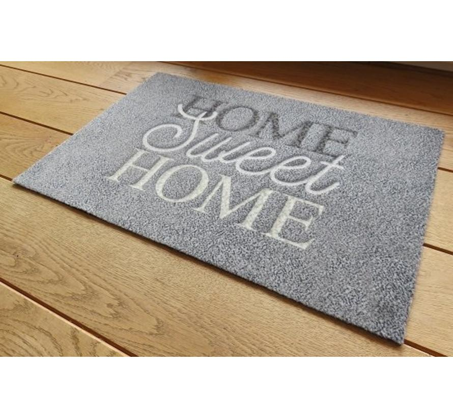 Tapis antipoussière gris Home sweet home