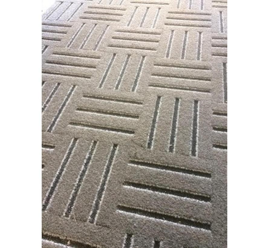 Tapis d'entrée en dalles modulaires, gris