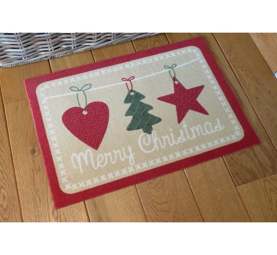 Tapis de Noël imprimé, Merry Christmas