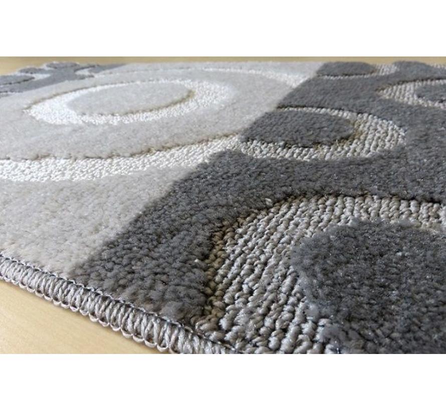 Tapis de bain set, teintes gris