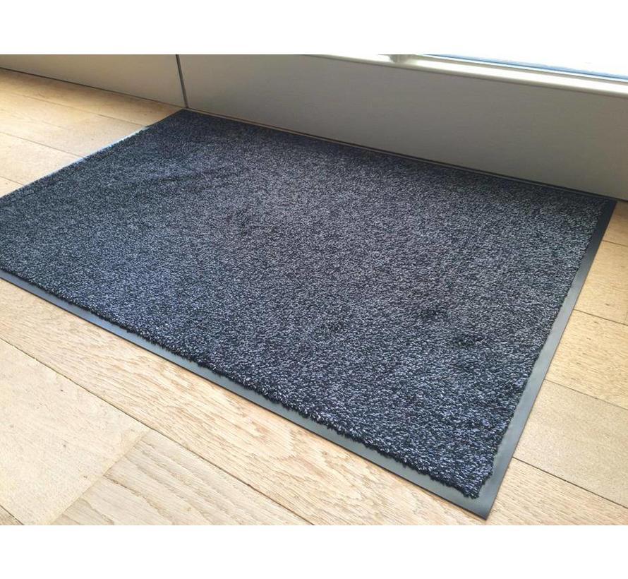 Tapis d'entrée écologique en coton, gris