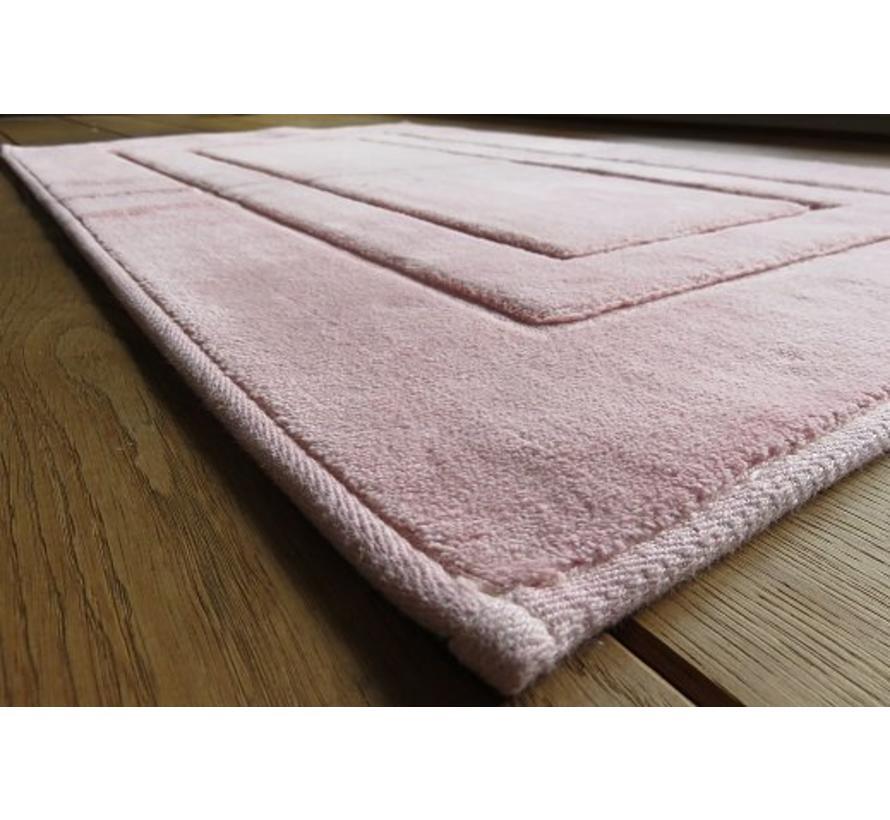 Tapis de bain en coton, rose