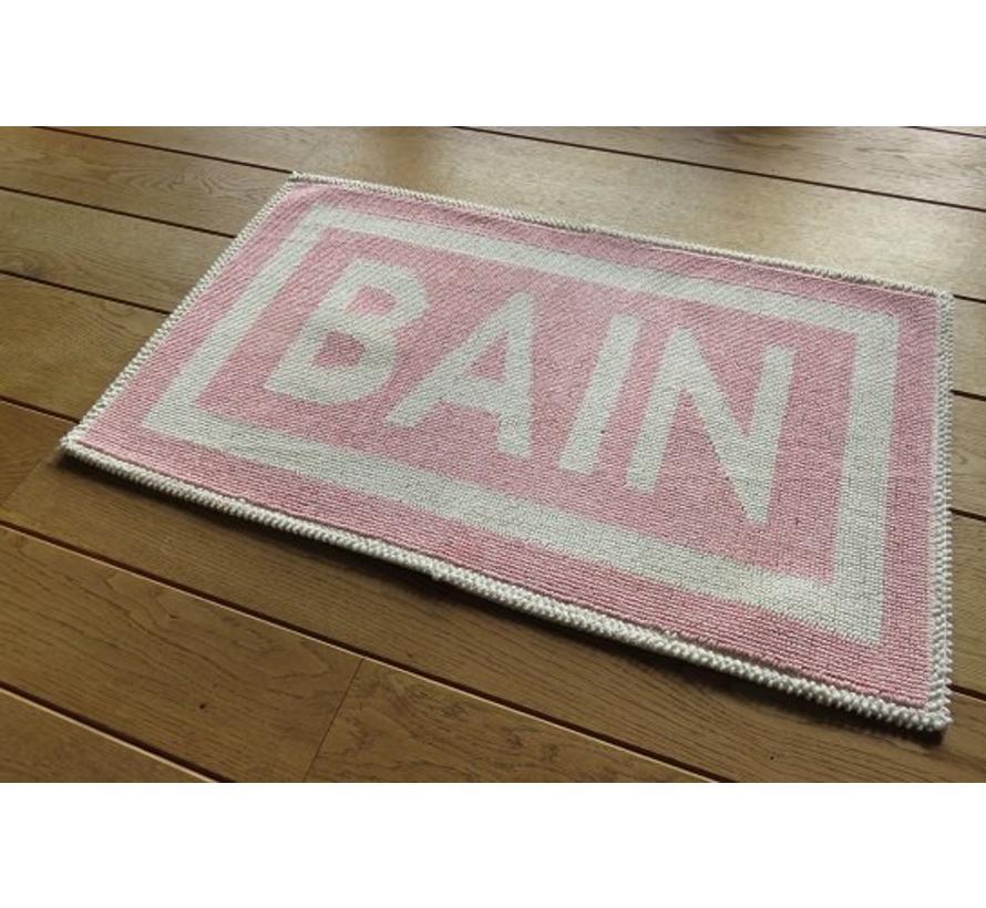Badmat katoen roze BAIN