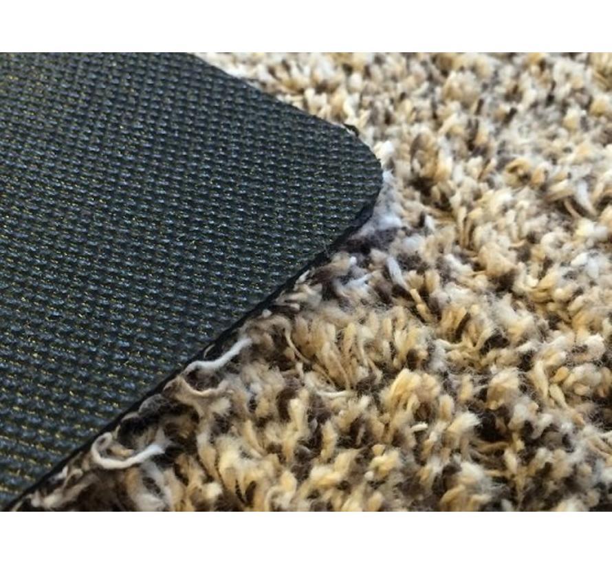 Tapis d'entrée écologique beige en coton sur mesure, 58 cm