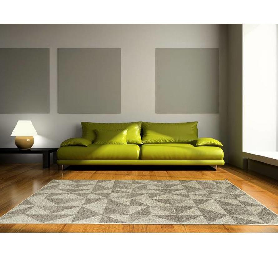Tapis moderne avec dessin gris