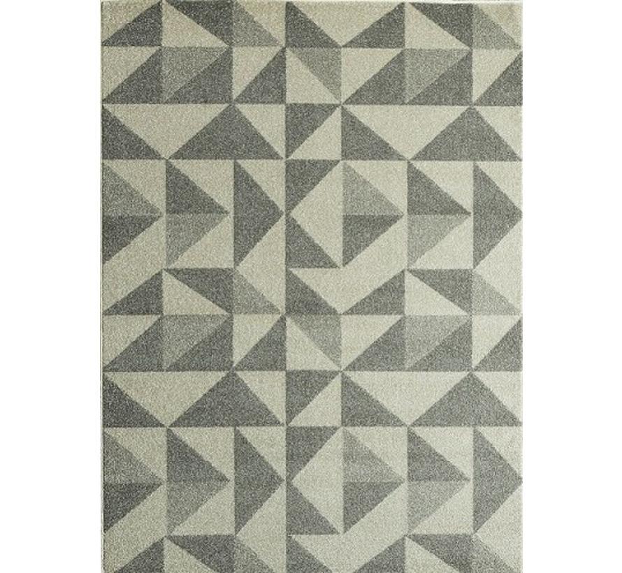 Modern tapijt grijs met patroon
