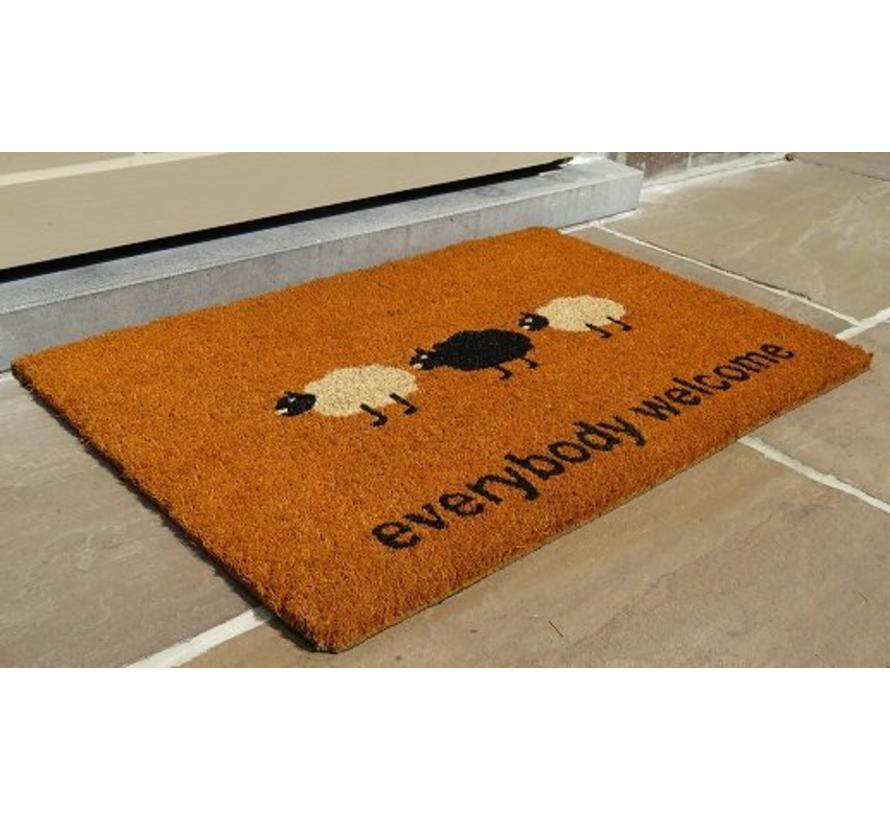 Tapis coco imprimé Everybody Welcome