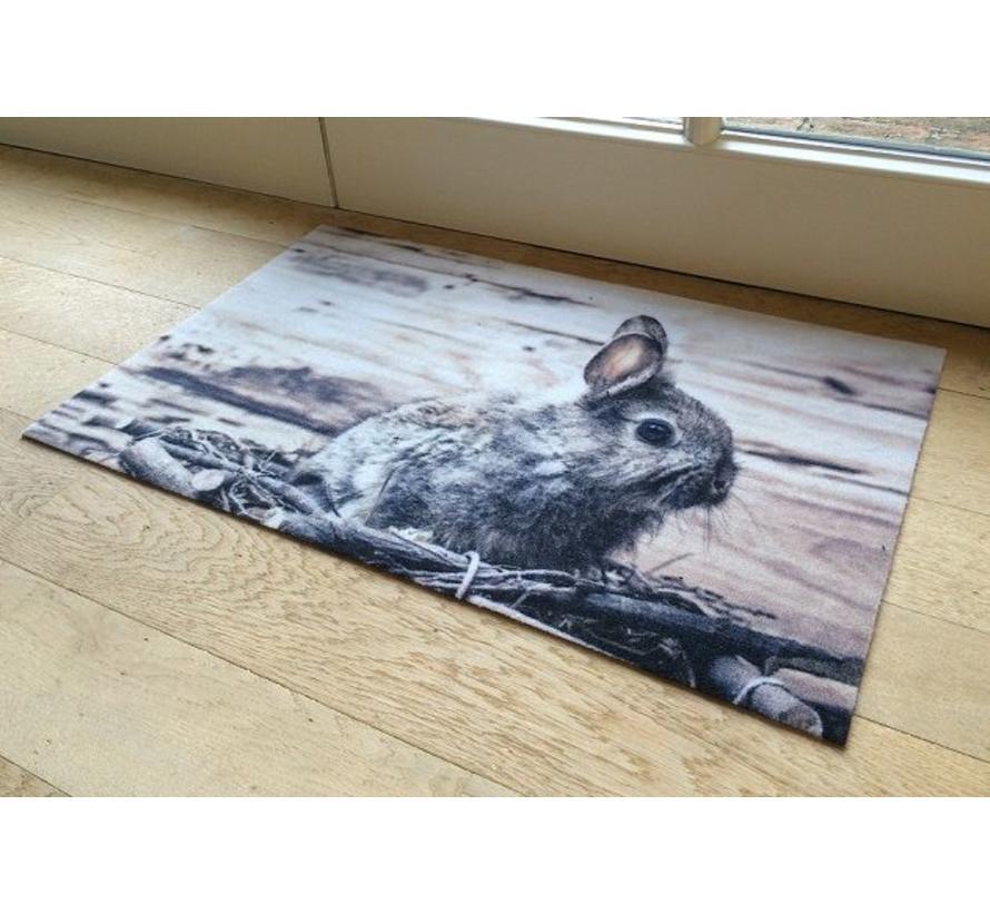 Deurmat foto konijn