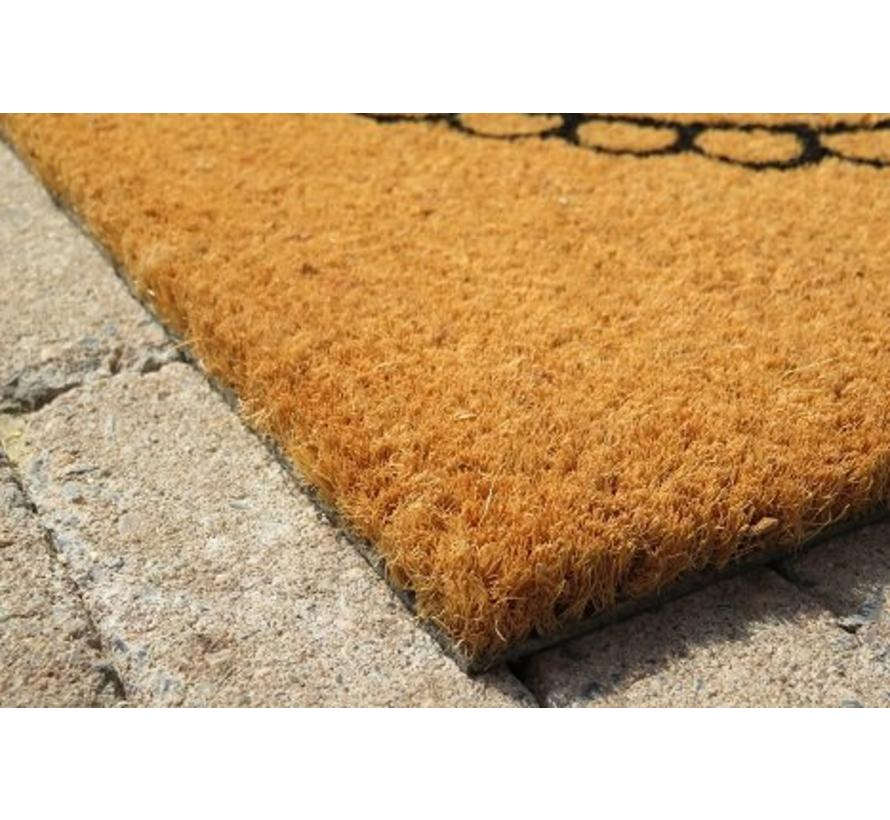 Tapis coco imprimé There's no place like home