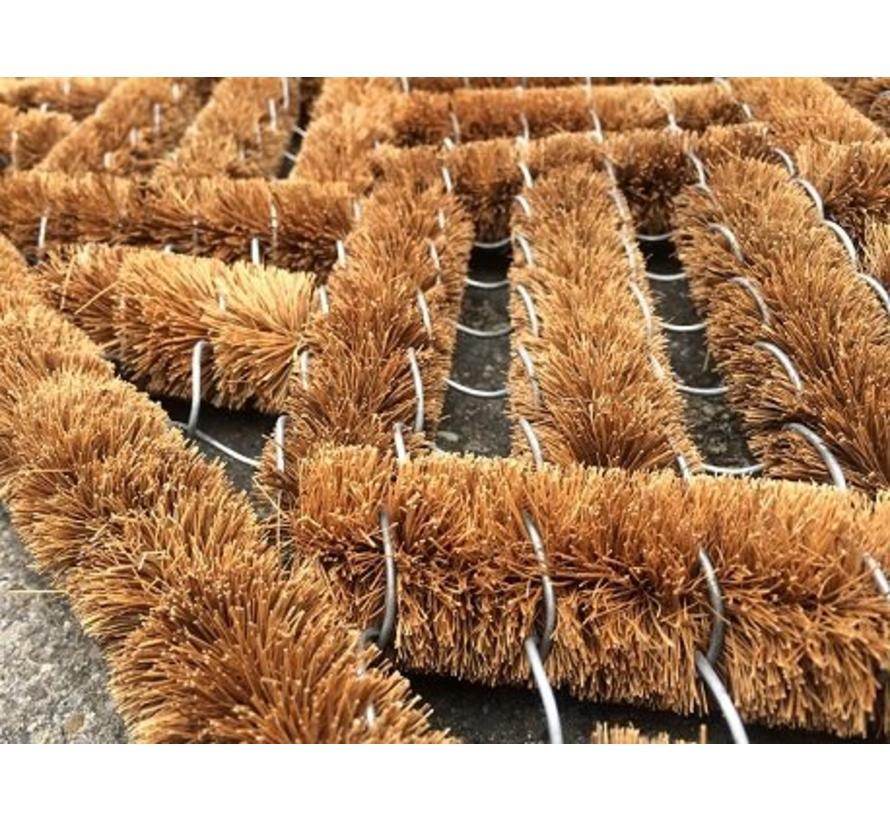 Tapis brosse à coco naturel