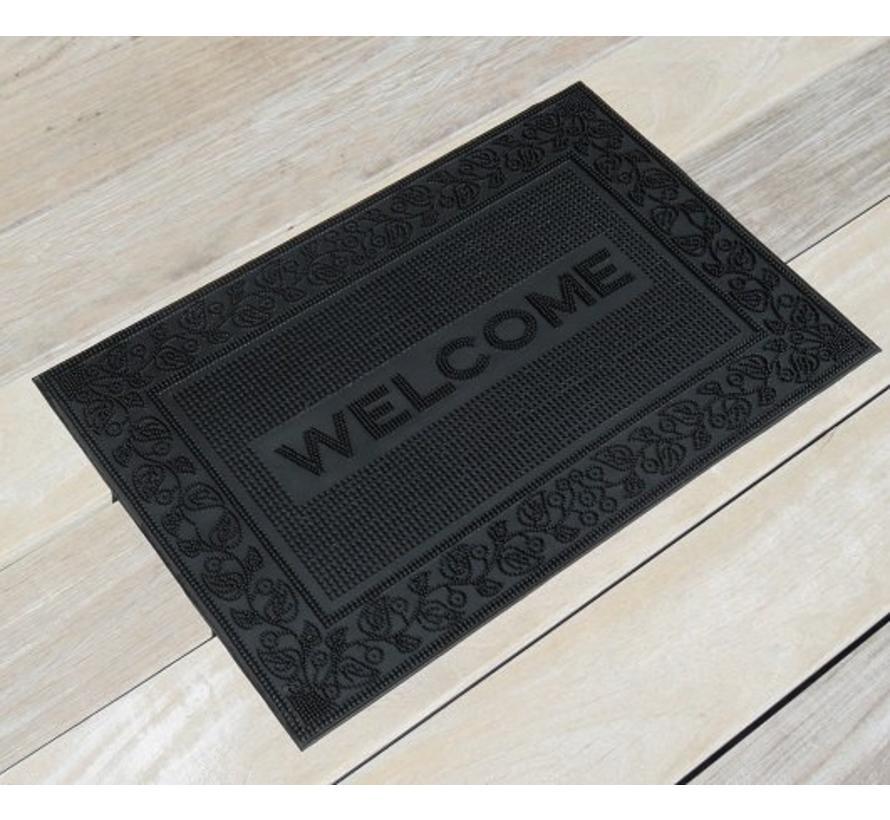 Tapis grattant en caoutchouc, Welcome