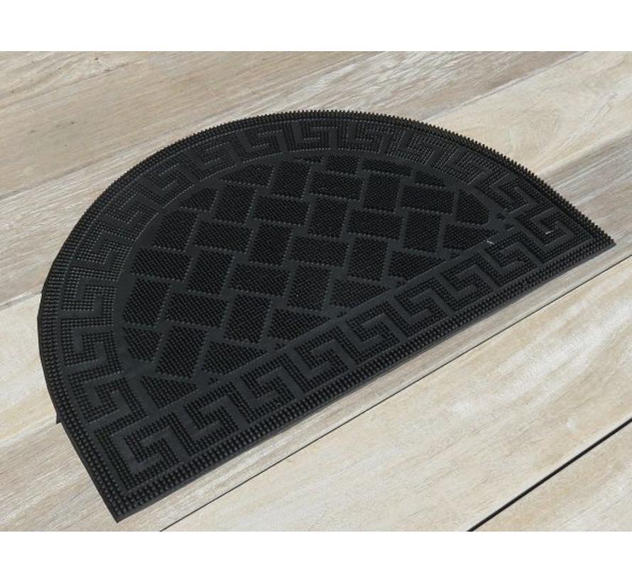 Rubber deurmat pinmat halfrond