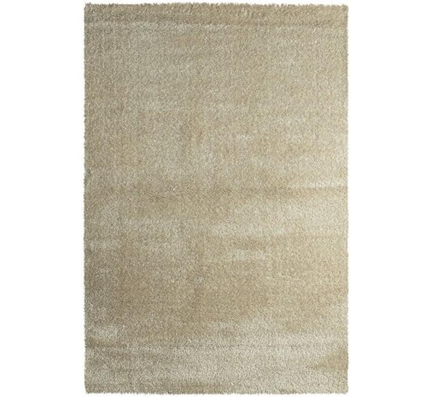 Hoogpolig tapijt ivoor luxe