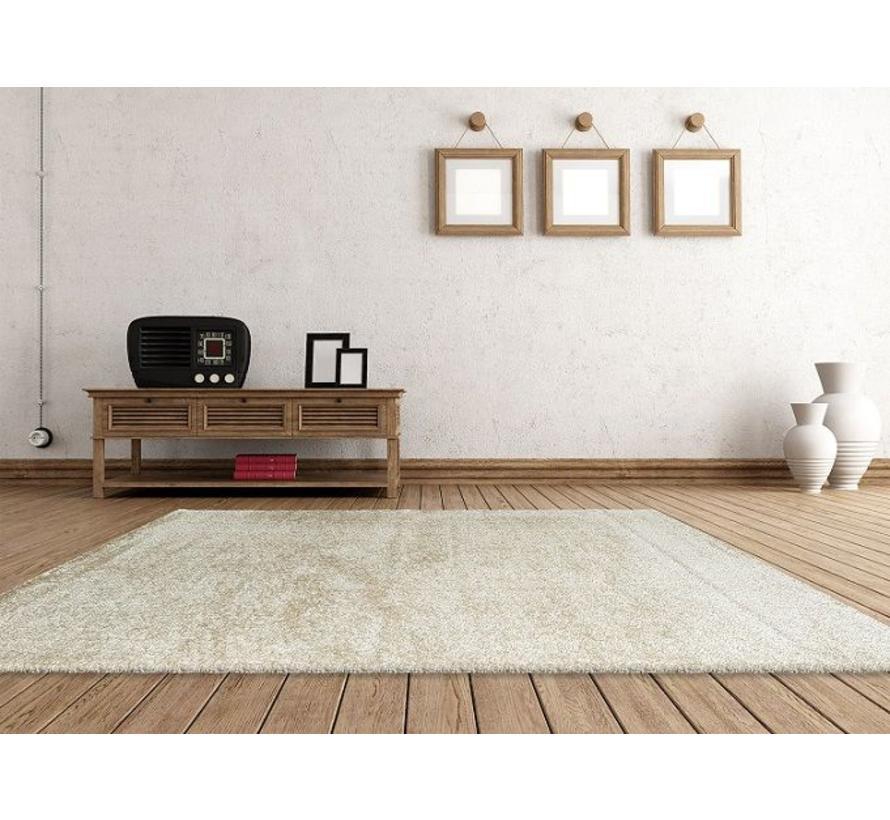 Hoogpolig tapijt ivoor luxe 40 mm