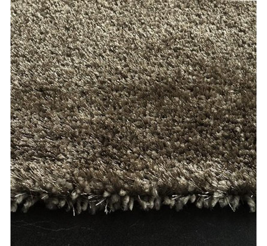 Hoogpolig tapijt taupe luxe 40 mm