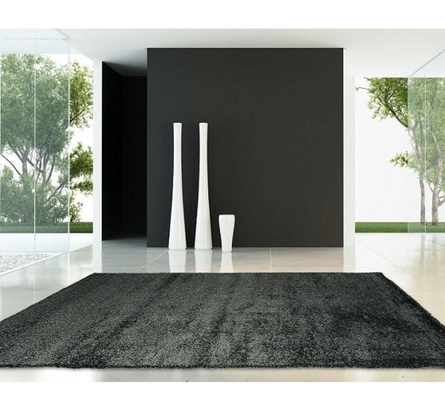 Hoogpolig tapijt antraciet luxe 40 mm