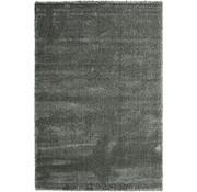 Tapis poil long argent 40 mm