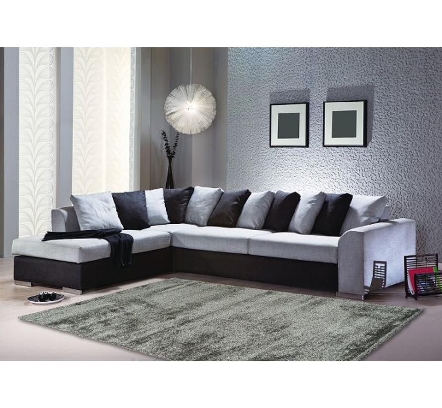 Hoogpolig tapijt zilver luxe 40 mm