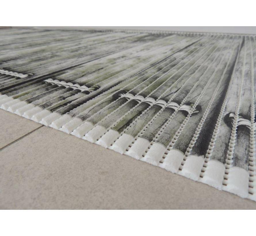 Tapis antidérapants sur mesure, planches gris