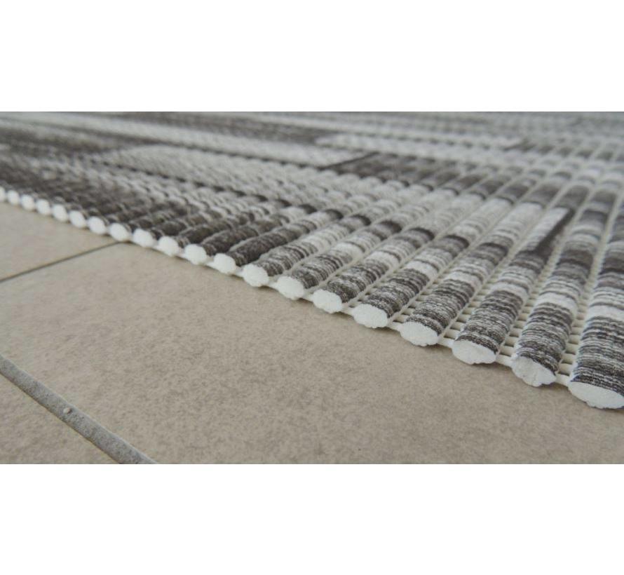 Antislipmat op maat, grijze plankenvloer