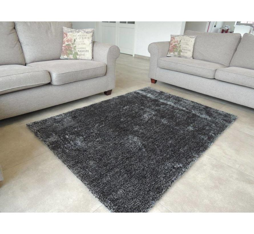 Tapis shaggy poils longs anthracite luxe 20 mm
