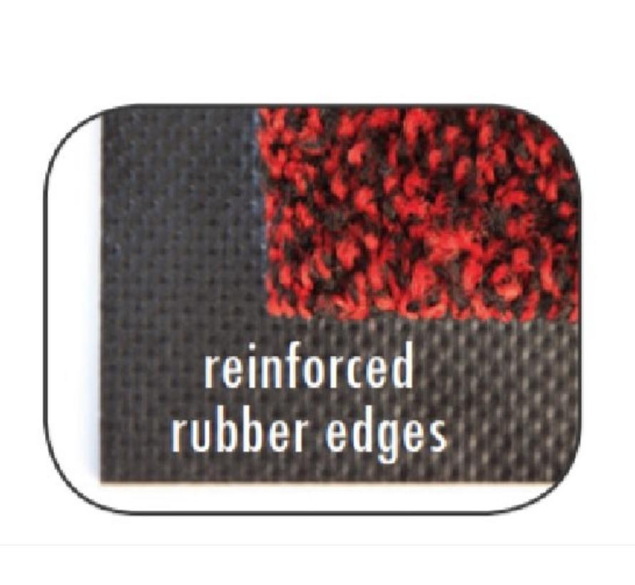 Paillasson antipoussière professionel en nylon et fibres grattantes bleu