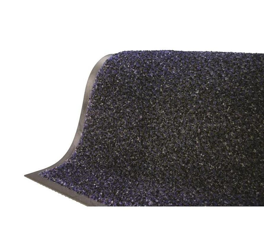Tapis anti poussière professionel en nylon et fibres grattantes bleu