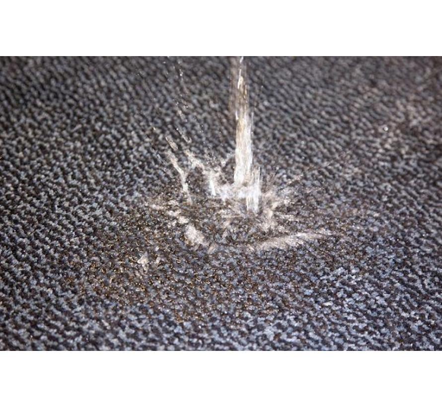 Paillasson antipoussière professionel et super absorbant en nylon/microlux bleu