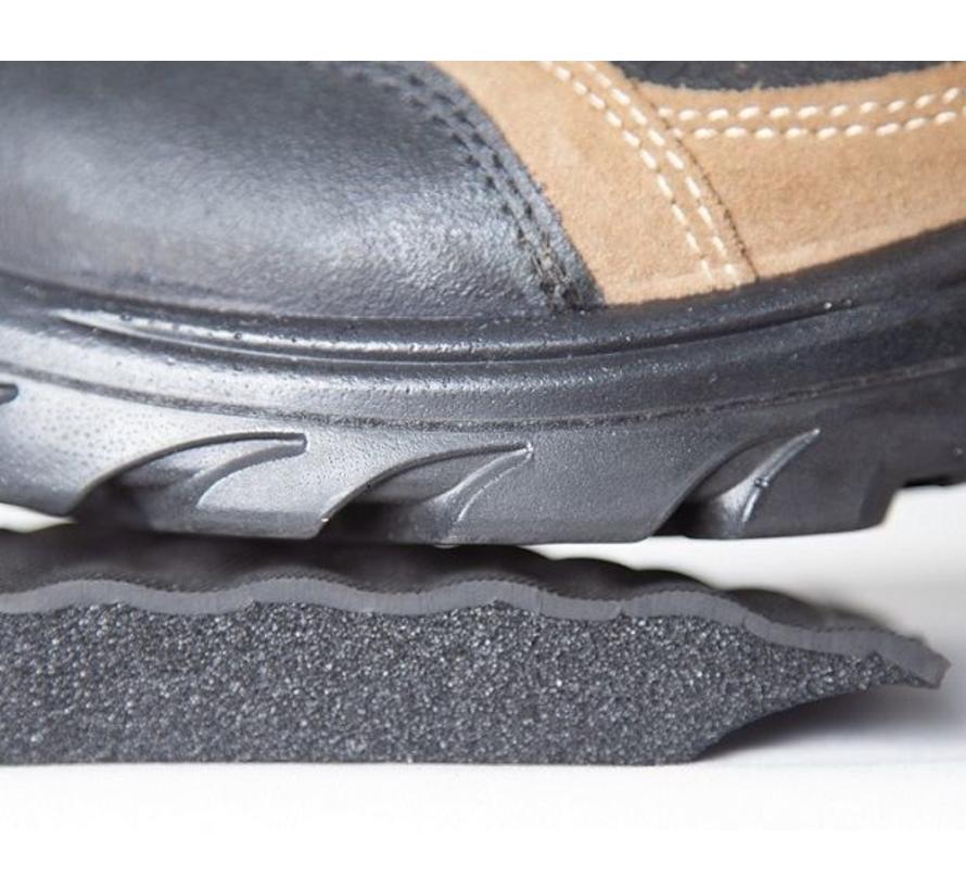 Tapis anti fatigue professionnel avec bordure rayé de sécurité