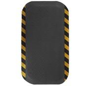 Tapis antifatigue professionnel avec bordure rayé de sécurité