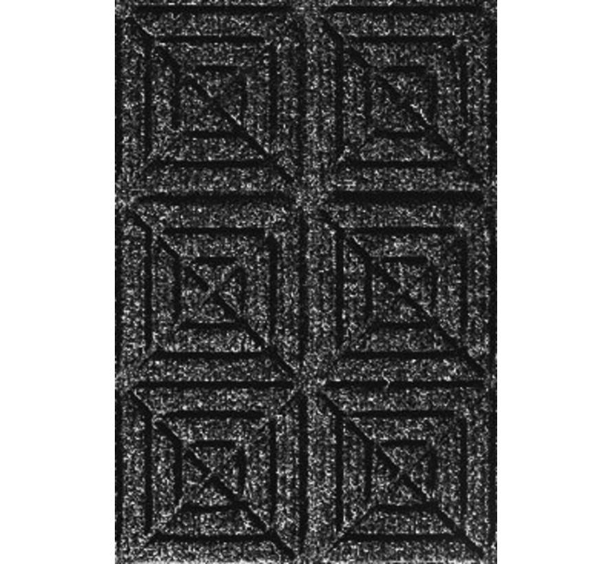 Droogloop entree tegels professionele kwaliteit, zwart