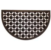 Tapis grattant et décoratif en caoutchouc, demi-circulaire