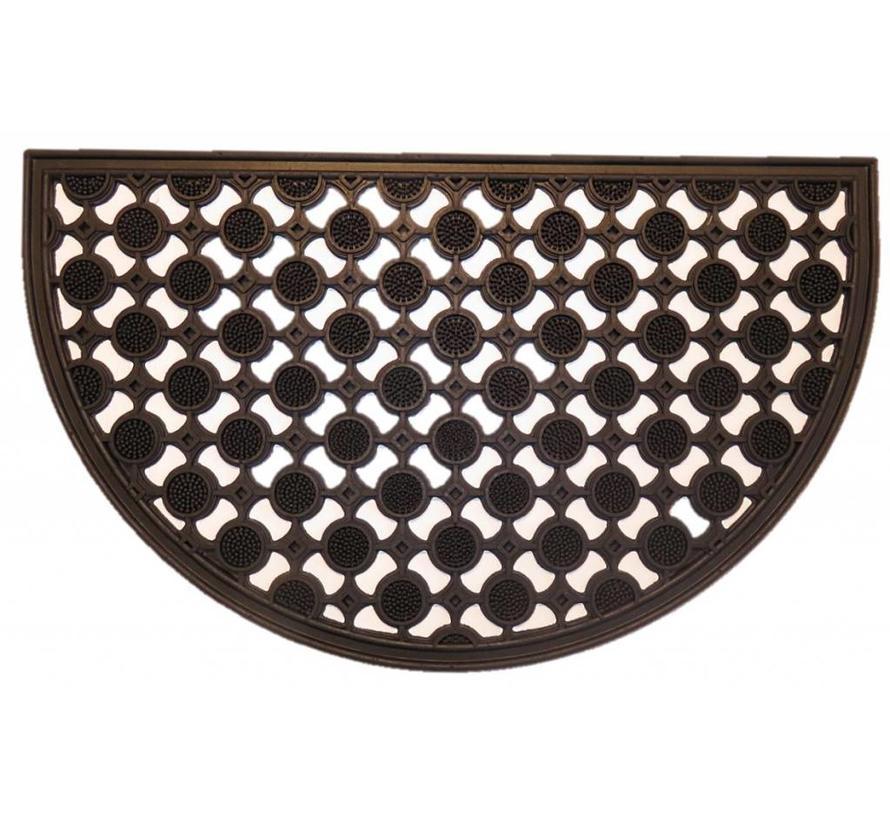 Paillasson grattant et décoratif en caoutchouc, 45x75cm