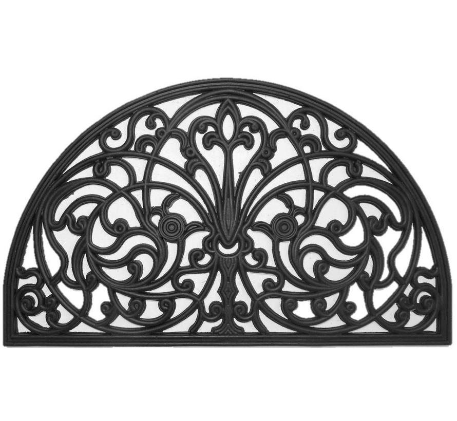 Tapis décoratif en caoutchouc avec look fer forgé, 45x75cm