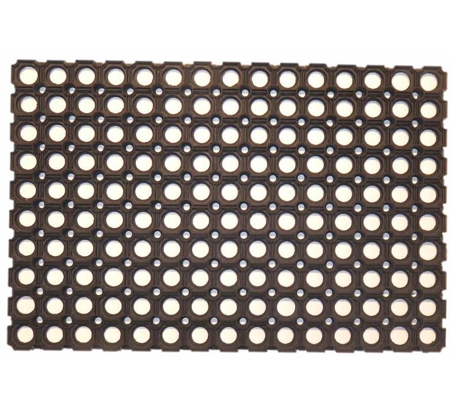 Caillebotis en caoutchouc, épaisseur 17 mm