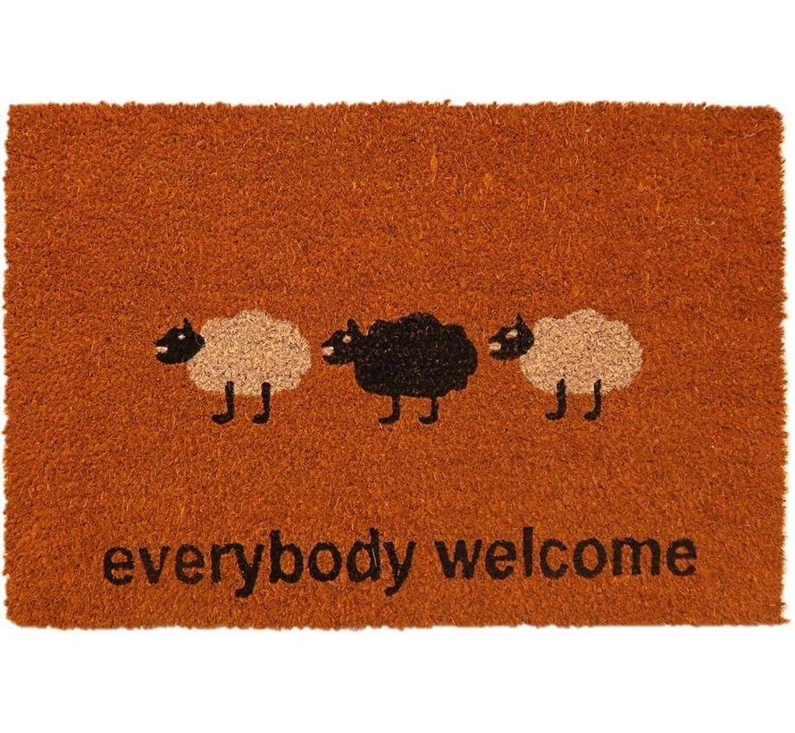 tapis coco, everybody welcome, 40x60cm