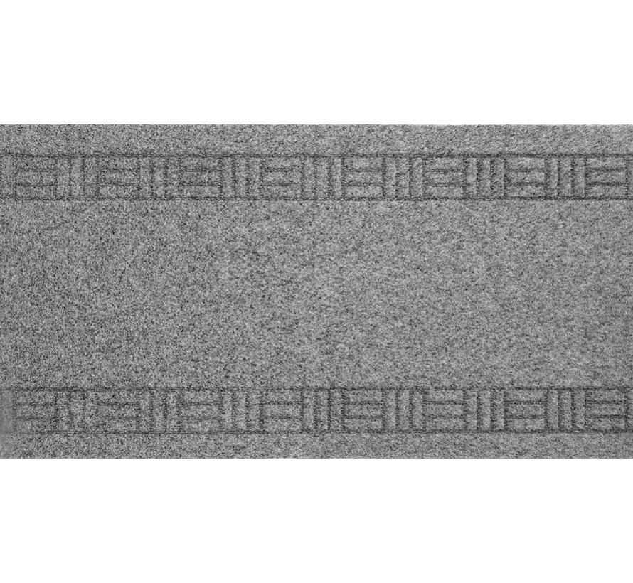 Tapis de couloir gris sur mesure, 66cm largeur