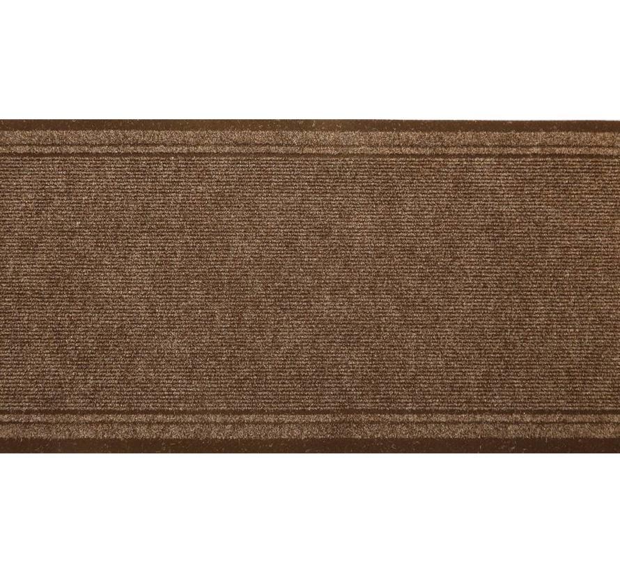 Tapis de cuisine brun sur mesure, 66 cm largeur