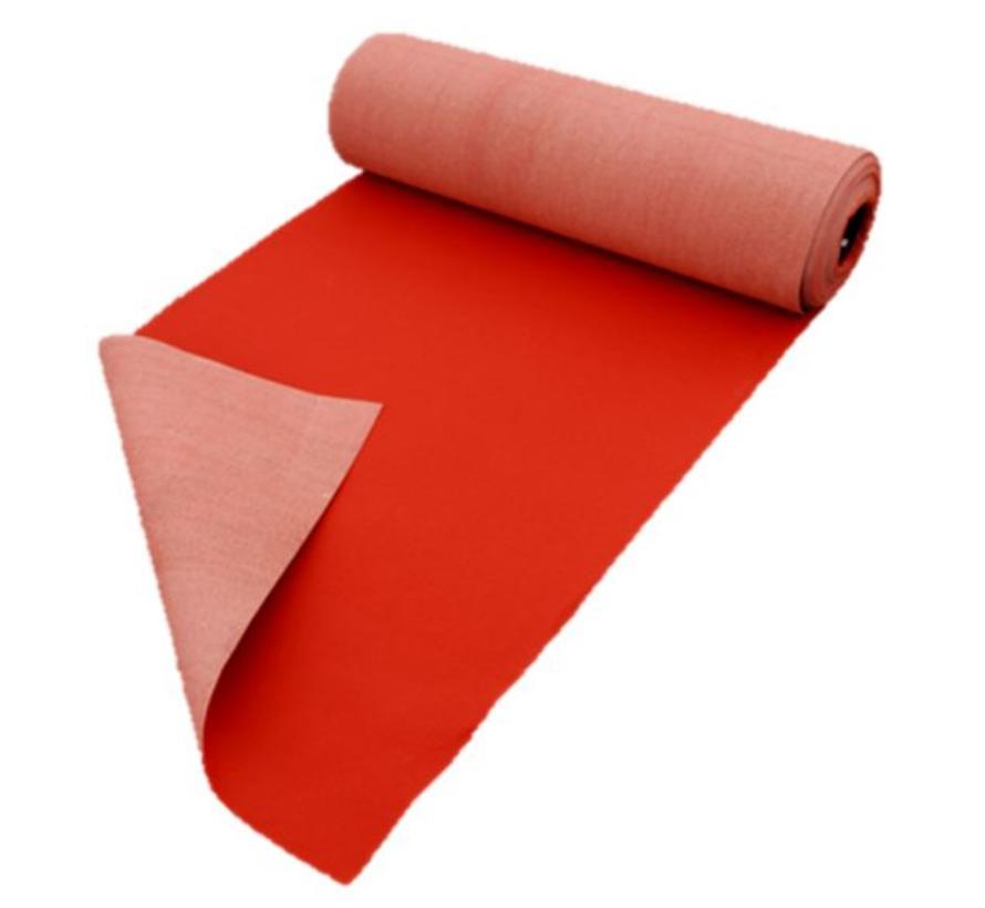 Loper rood op maat, 100 cm breed