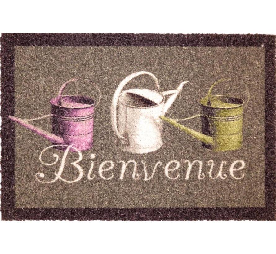Schrapende deurmat met opschrift Bienvenue