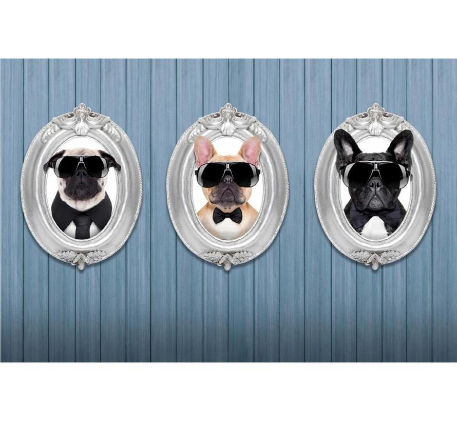 Deurmat foto drie hondjes