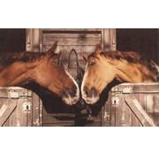 Tapis motif chevaux