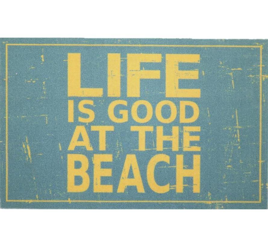 Tapis d'entrée vintage life is good at the beach
