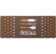 Keukenmat met opschrift bruin
