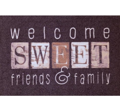 Tapis D Entree Welcome Sweet Friends Family Onlinemattenshop