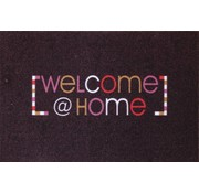 Deurmat multicolor Welcome @ home