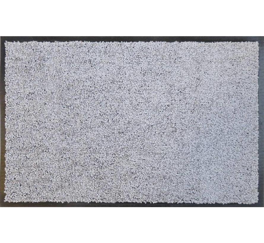 Tapis d'entrée absorbant et écologique gris argent